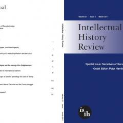 Cover of Intellectual History Review 27.1