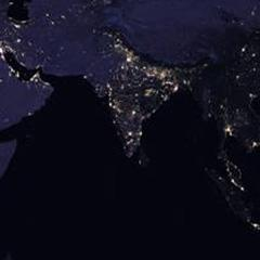 NASA image of India at night.