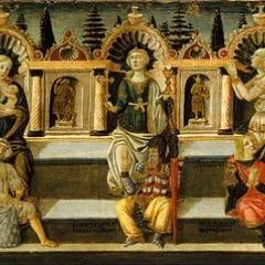 """The Seven Virtues"" by Anton Francesco dello Scheggia (Documented from 1465 - 1476)"