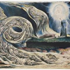 Image: William Blake,The Lovers' Whirlwind, Francesca da Rimini and Paolo Malatesta(1827-27).